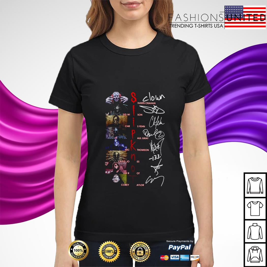 Slipknot character signatures ladies tee