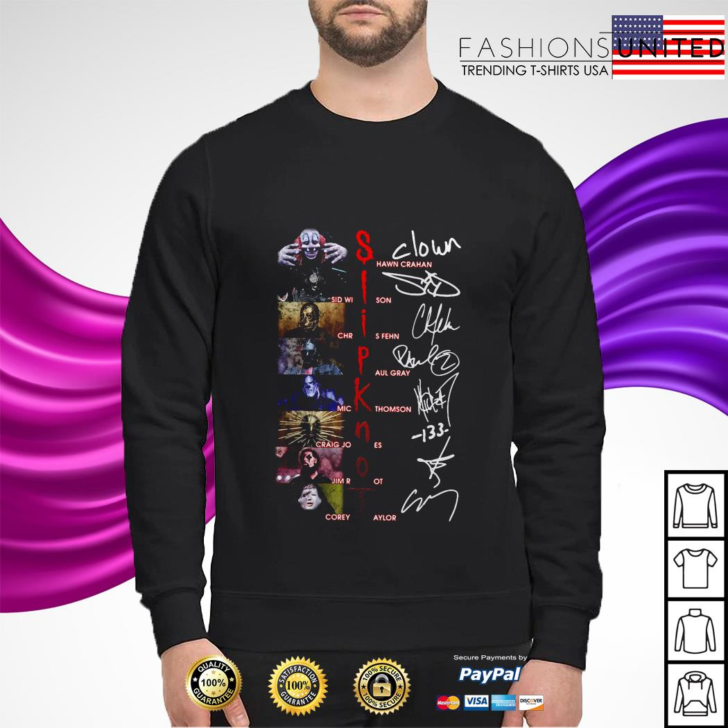 Slipknot character signatures sweater