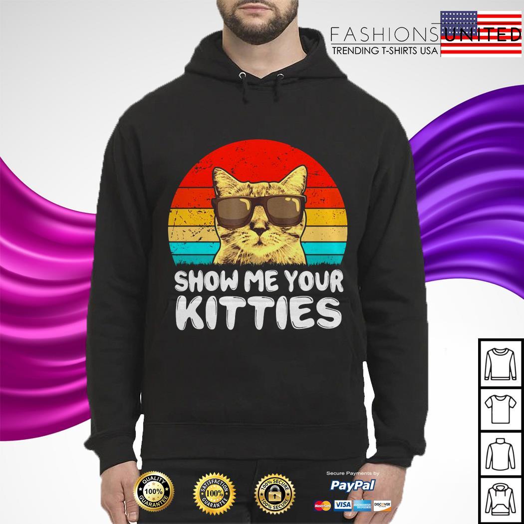Snow me your kitties cat vintage hoodie