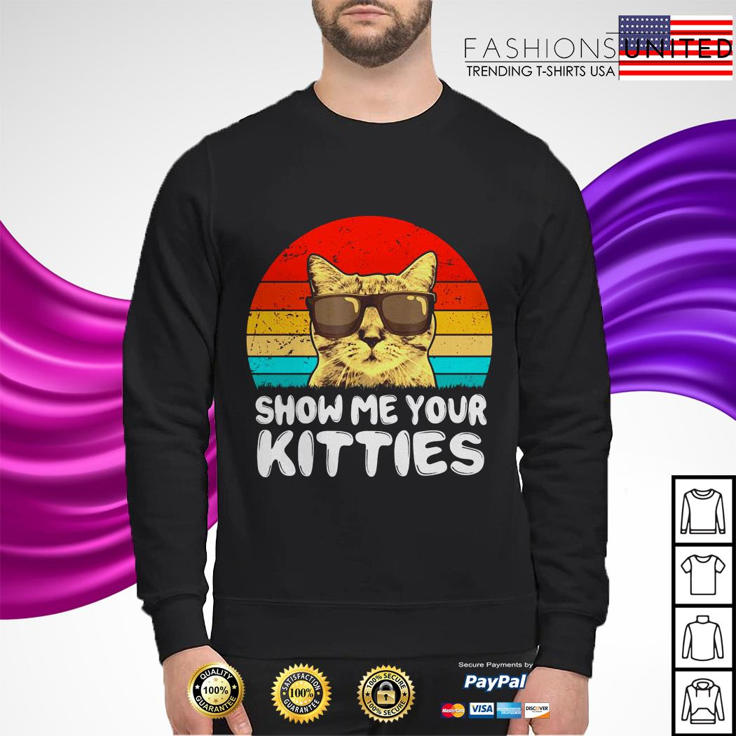 Snow me your kitties cat vintage sweater