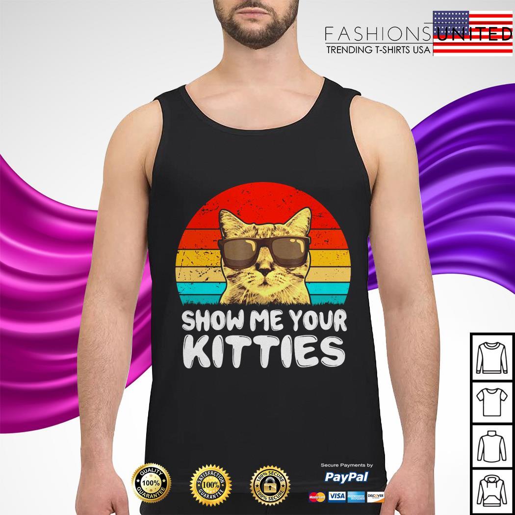 Snow me your kitties cat vintage tank-top