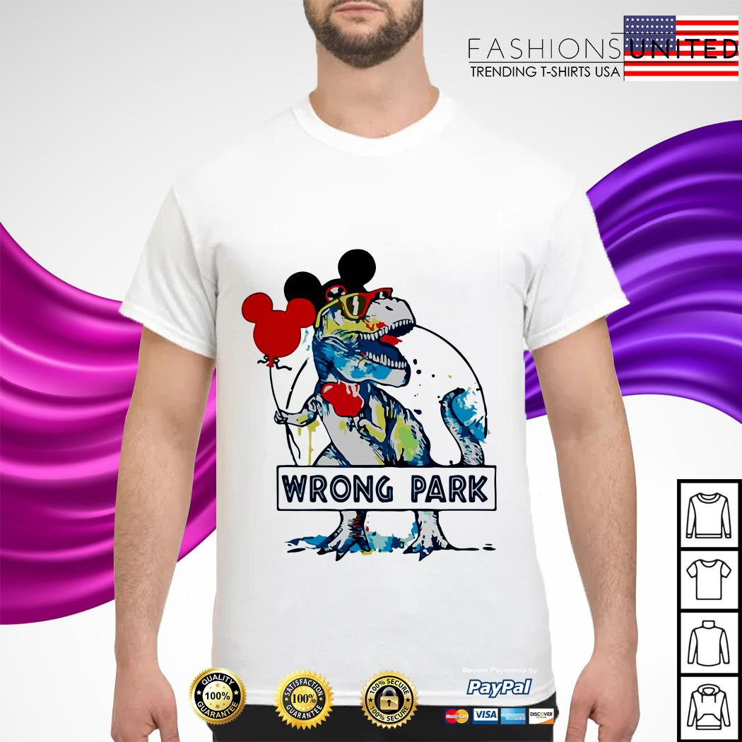 Dinosaur T-rex mashup Mickey mouse wrong park shirt