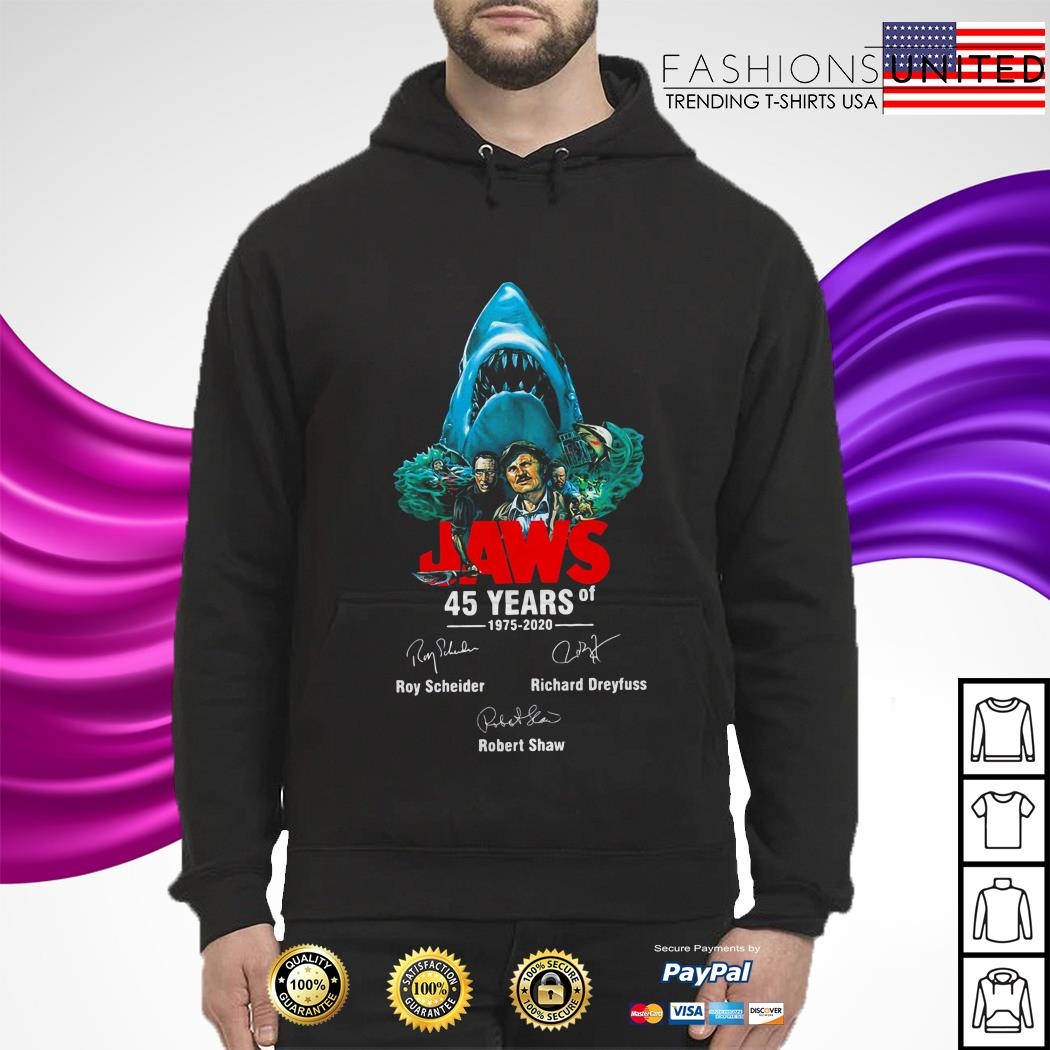 Jaws 45 Years Of 1975 2020 Signatures hoodie