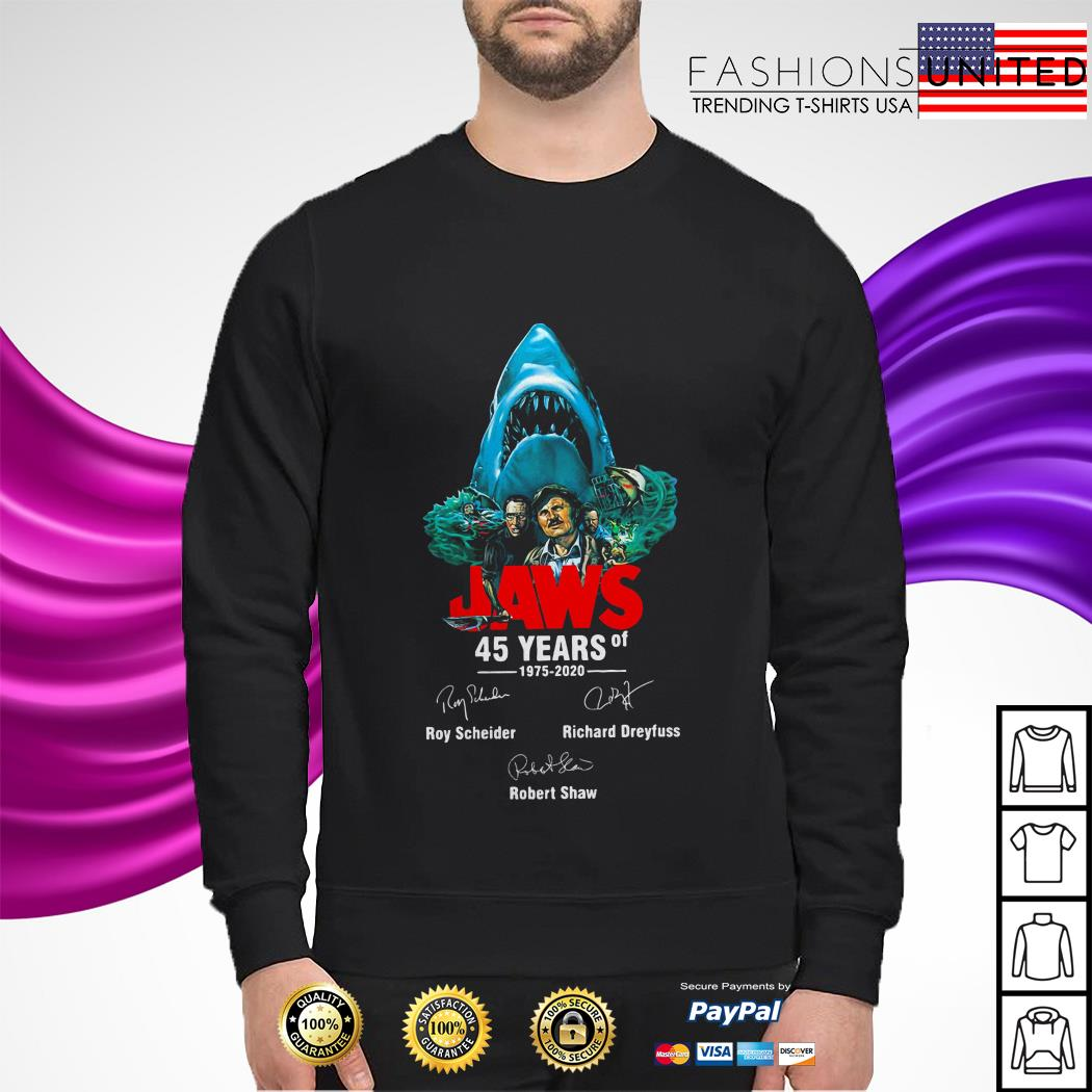 Jaws 45 Years Of 1975 2020 Signatures sweater