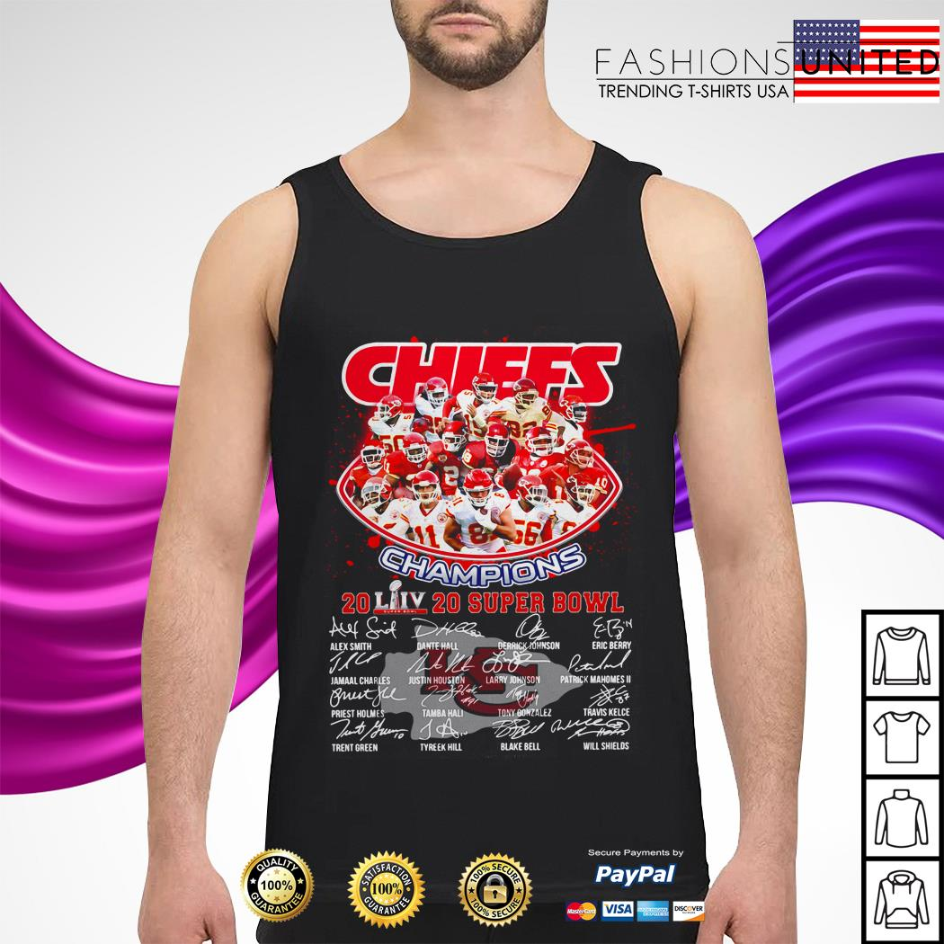 Kansas City Chiefs Champions 2020 super bowl signatures tank-top