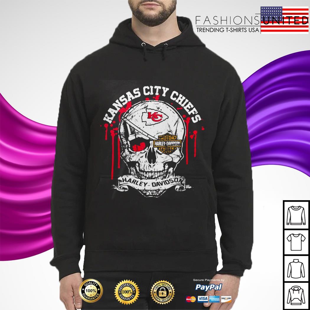 Kansas City Chiefs Motor Harley Davidson Skull hoodie