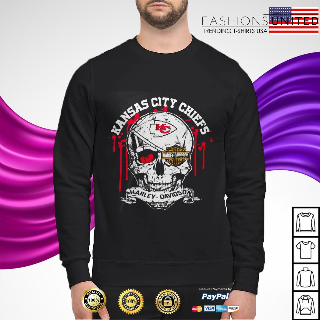 Kansas City Chiefs Motor Harley Davidson Skull sweater