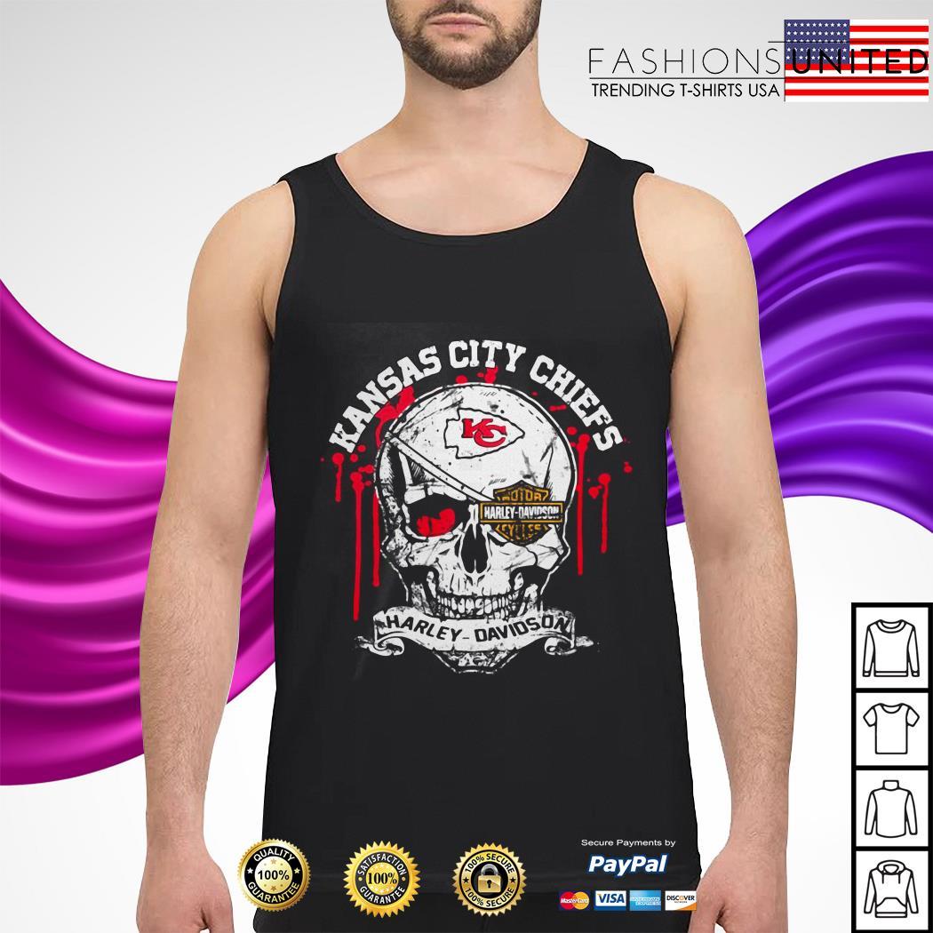 Kansas City Chiefs Motor Harley Davidson Skull tank-top