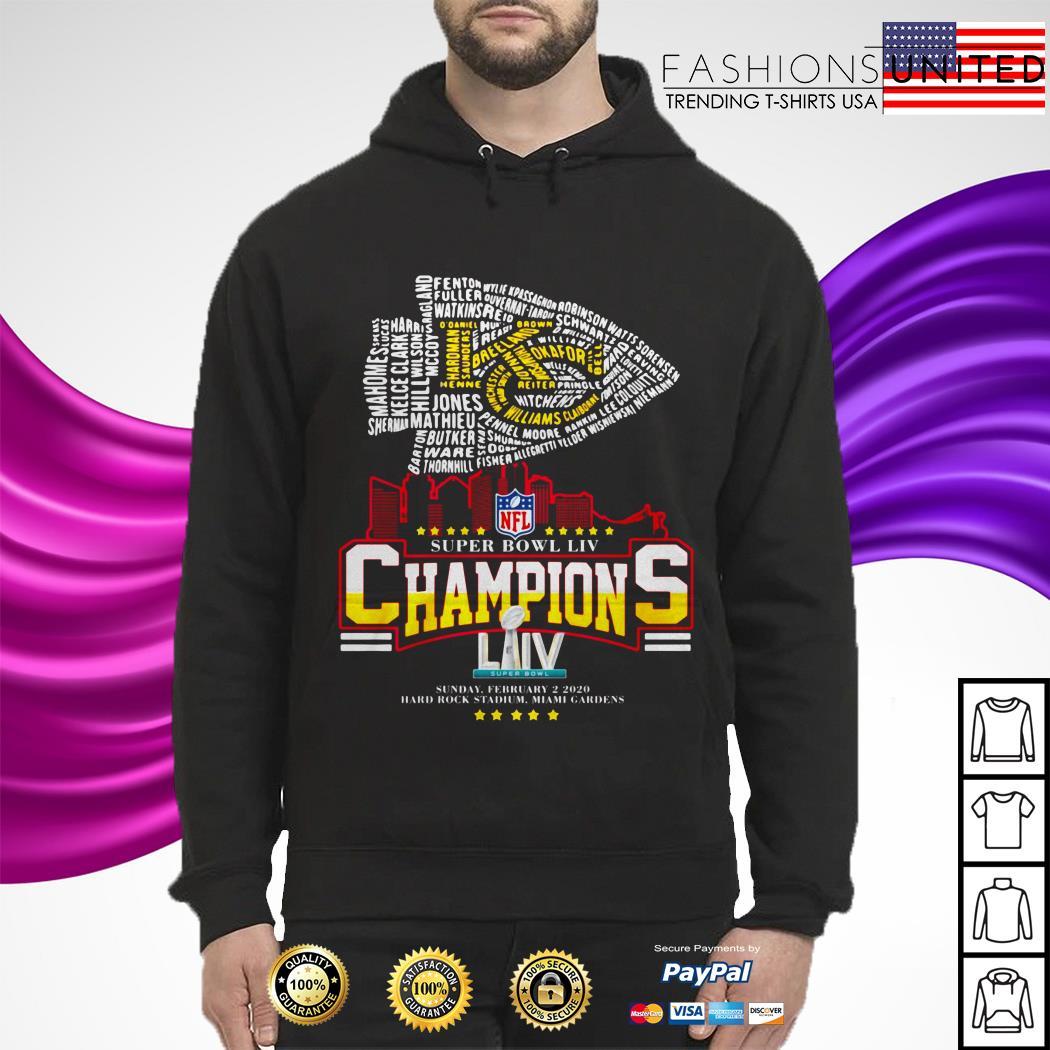 Kansas City Chiefs NFL super bowl LIV champions sunday february 2 2020 hoodie
