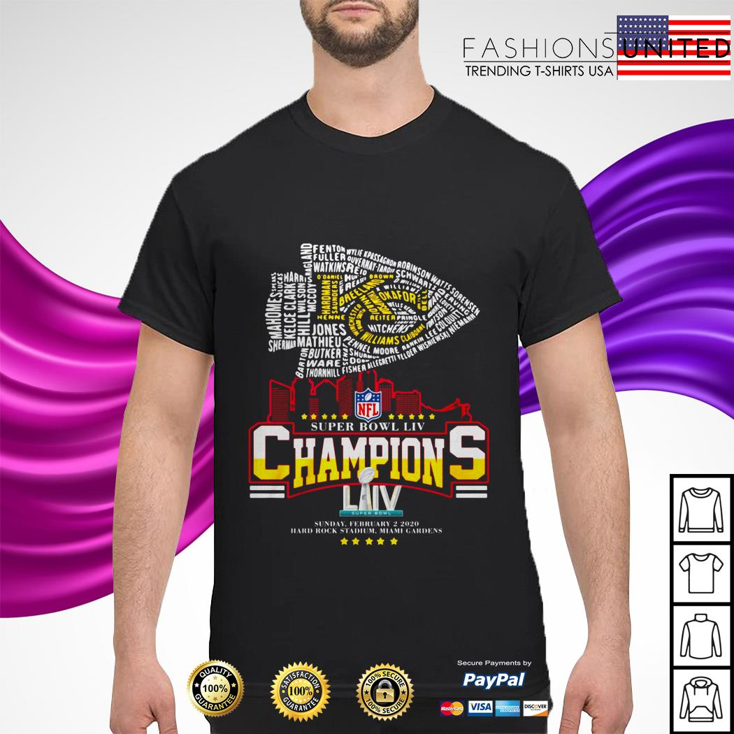 Kansas City Chiefs NFL super bowl LIV champions sunday february 2 2020 shirt