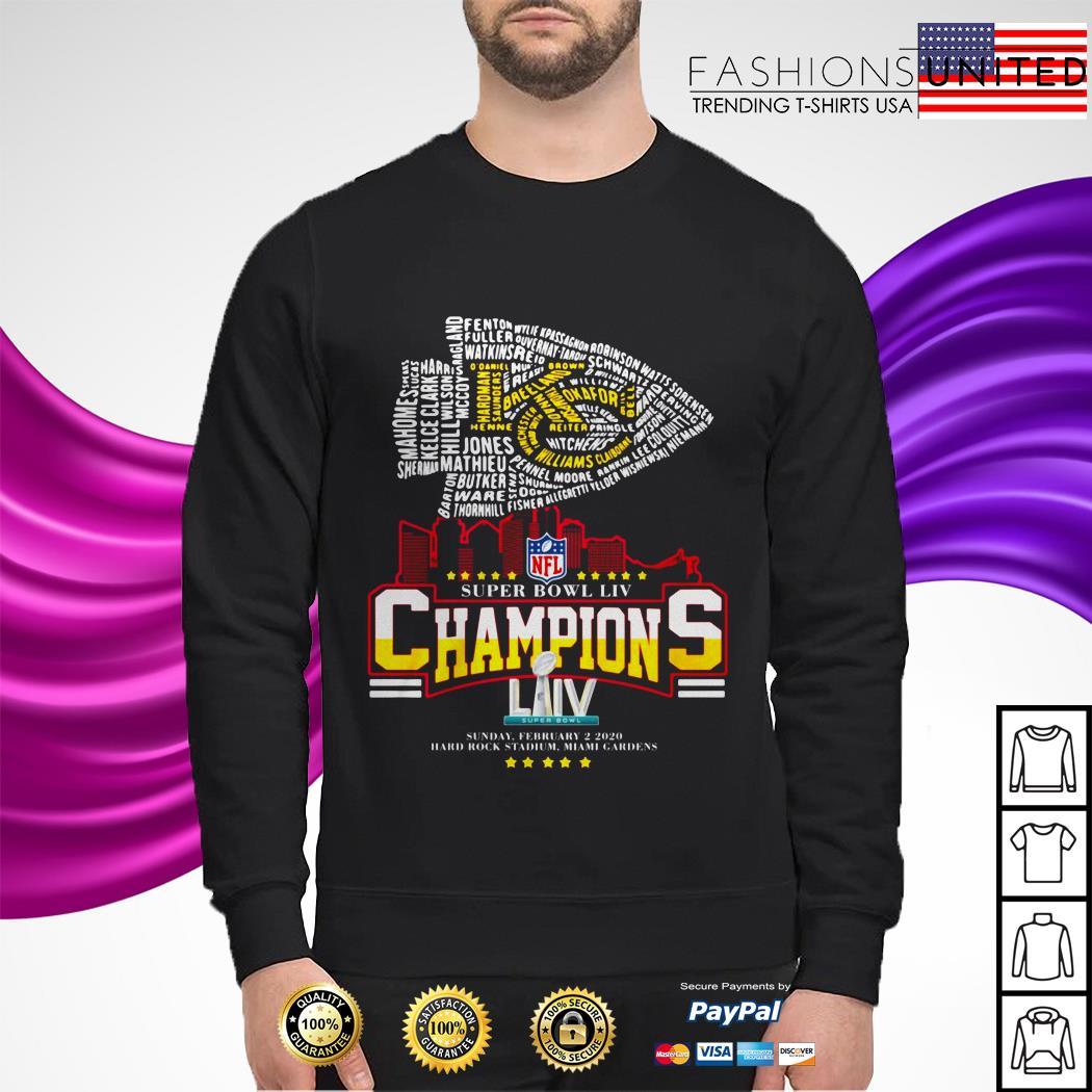 Kansas City Chiefs NFL super bowl LIV champions sunday february 2 2020 sweater