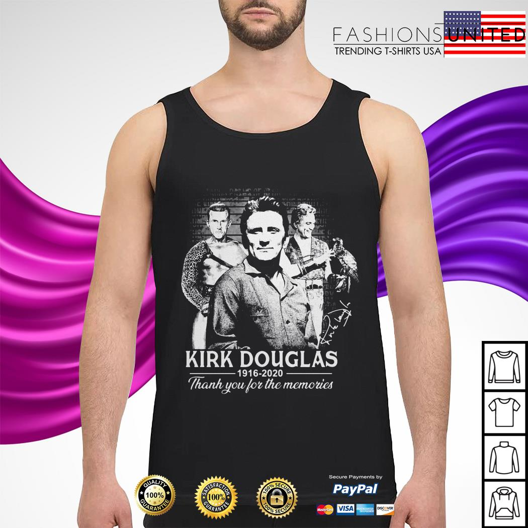 Kirk Douglas 1926 2020 thank you for the memories tank-top