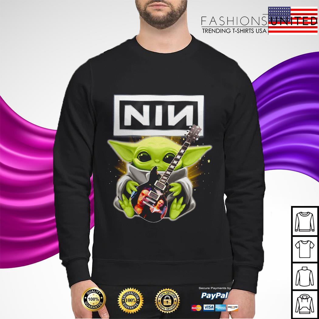 Star Wars Baby Yoda hug Nine Inch Nails sweater