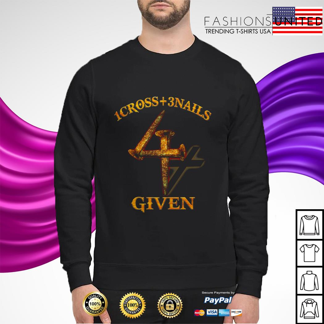 1 cross 3 nails 4 given sweater