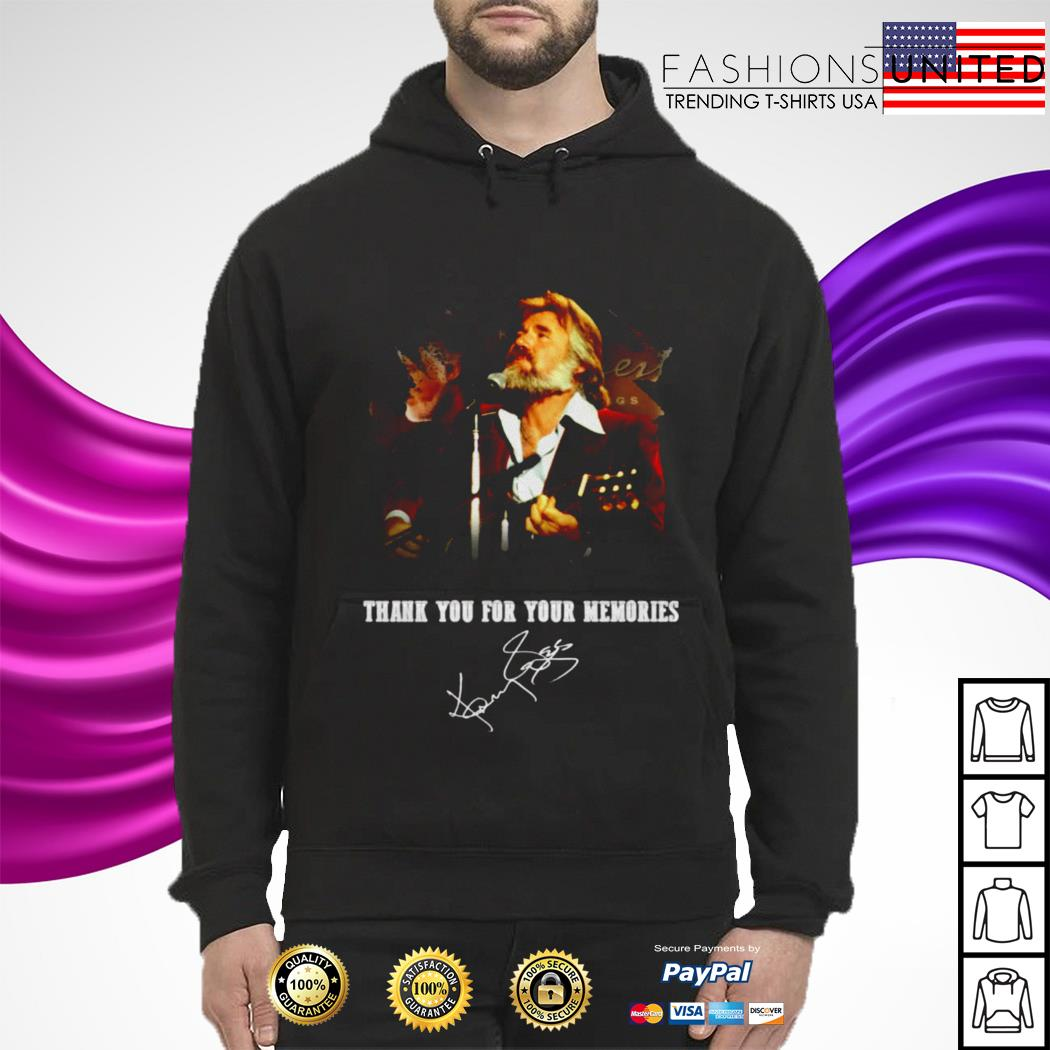 Kenny Rogers Thank You For Your Memories Signature hoodie