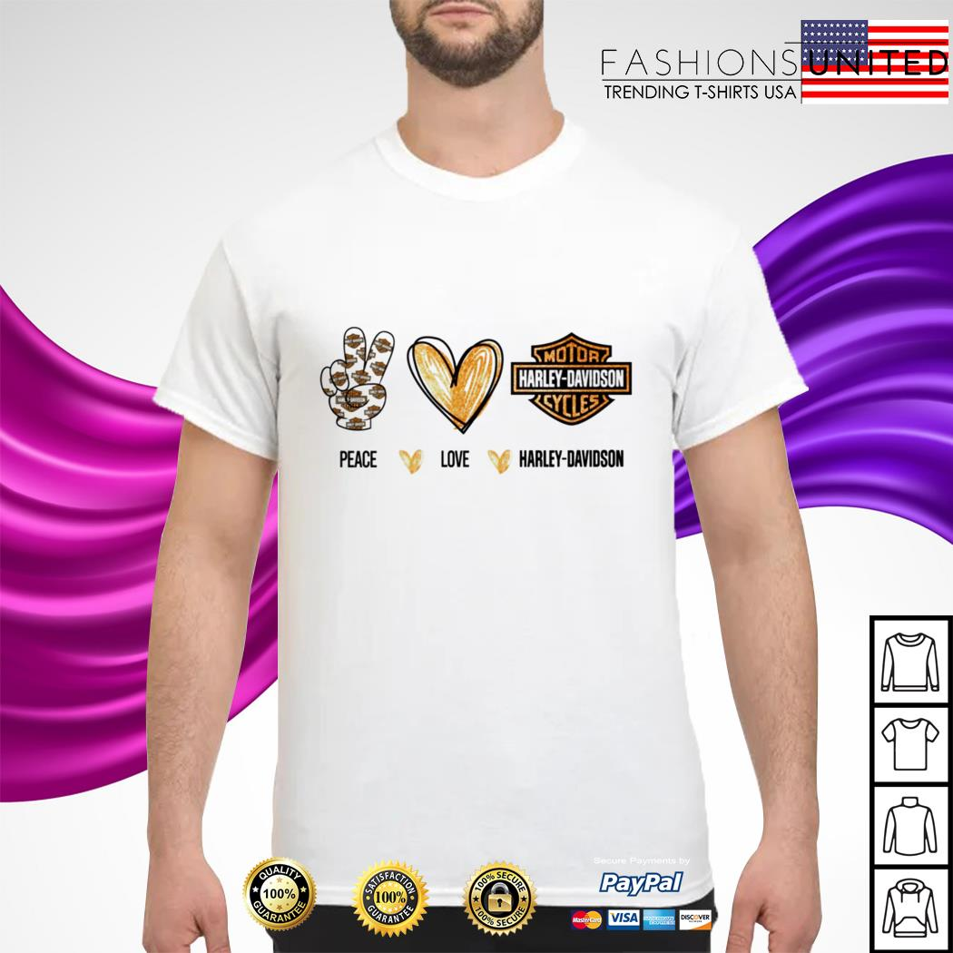 Pace love Harley Davidson shirt