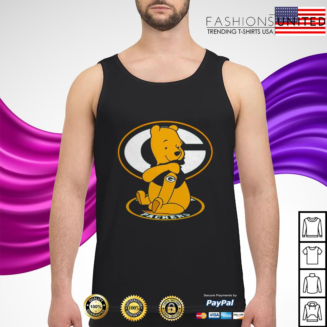 Pooh Green Bay Packers Tattoo tank-top