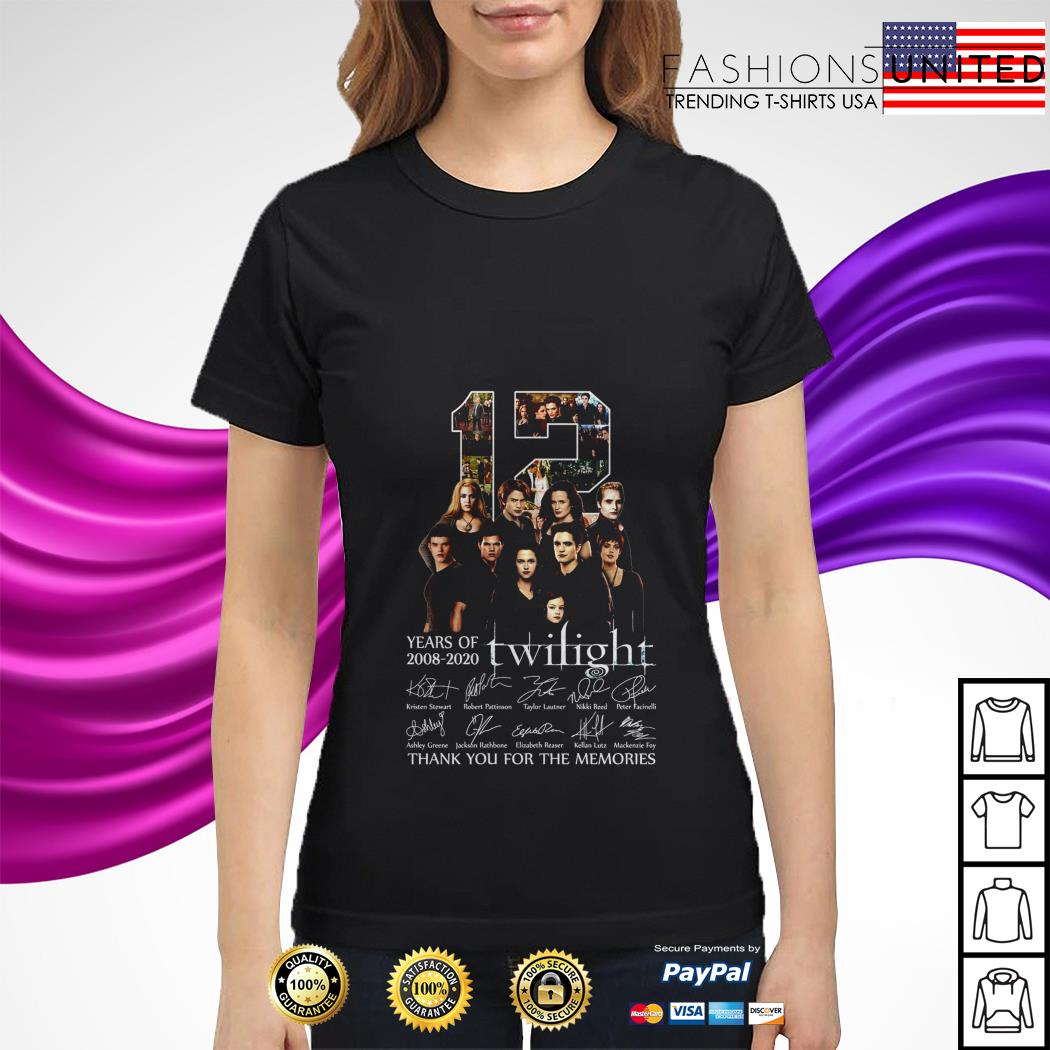 12 years of 2008 2020 Twilight signature ladies tee