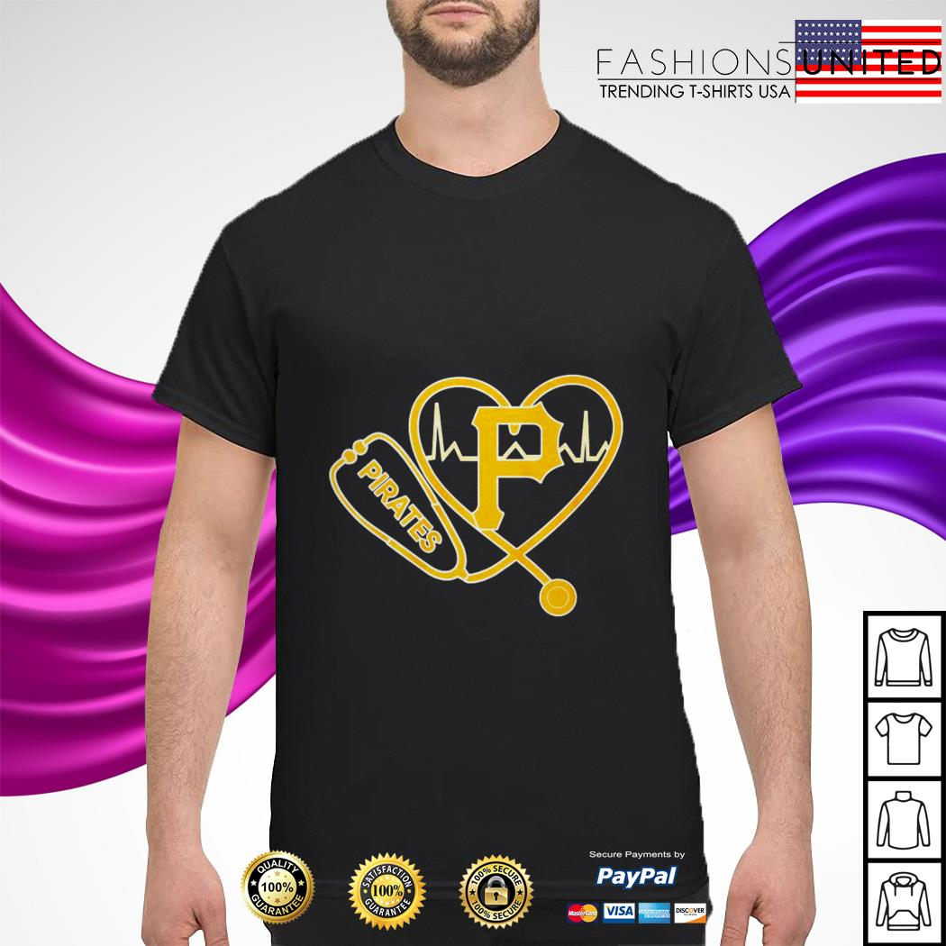 Pittsburgh Pirates nurse stethoscope heartbeat shirt