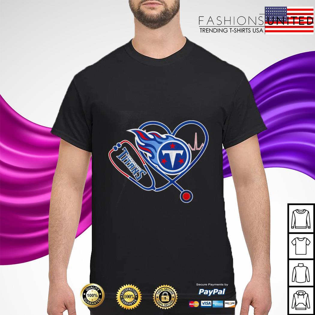 Heartbeat Nurse love Tennessee Titans shirt
