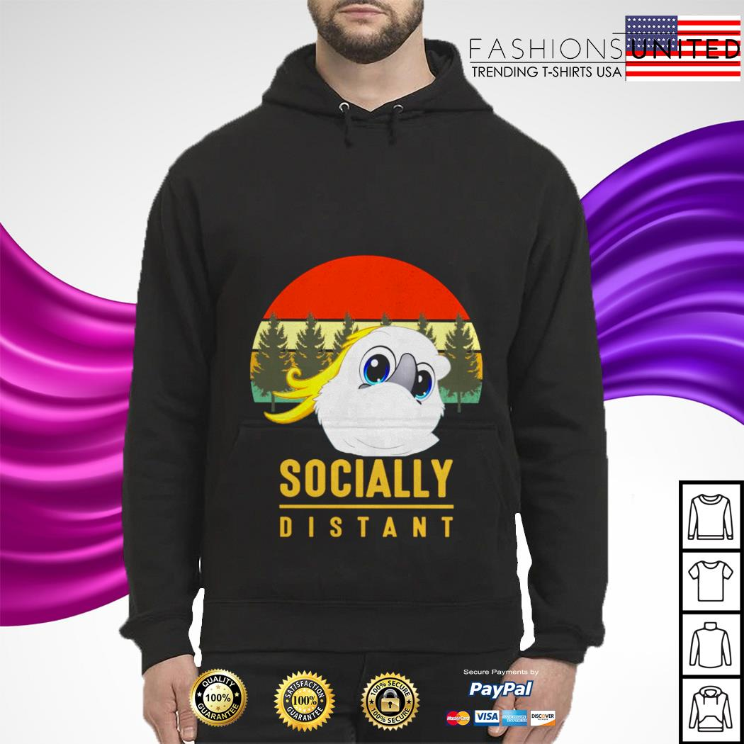 Parrots mask socially distant vintage hoodie