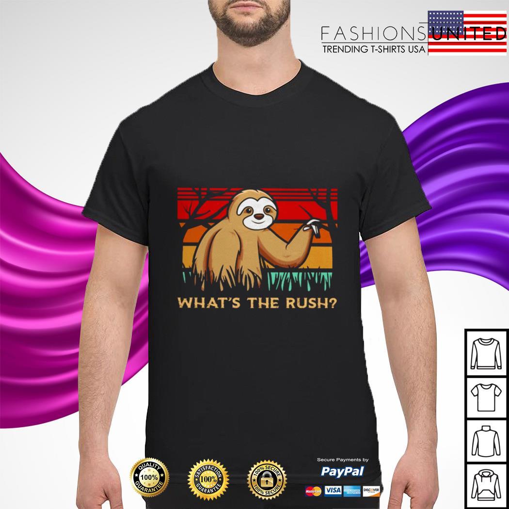 Sloth what's the rush vintage shirt