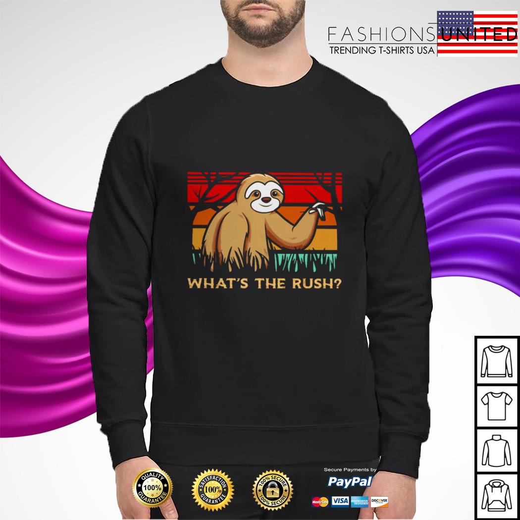 Sloth what's the rush vintage sweater