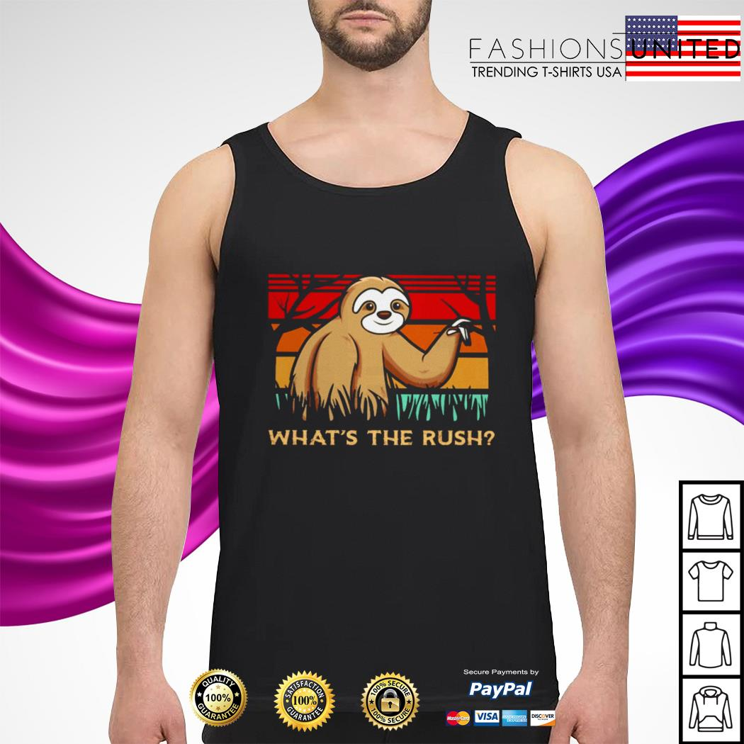 Sloth what's the rush vintage tank-top