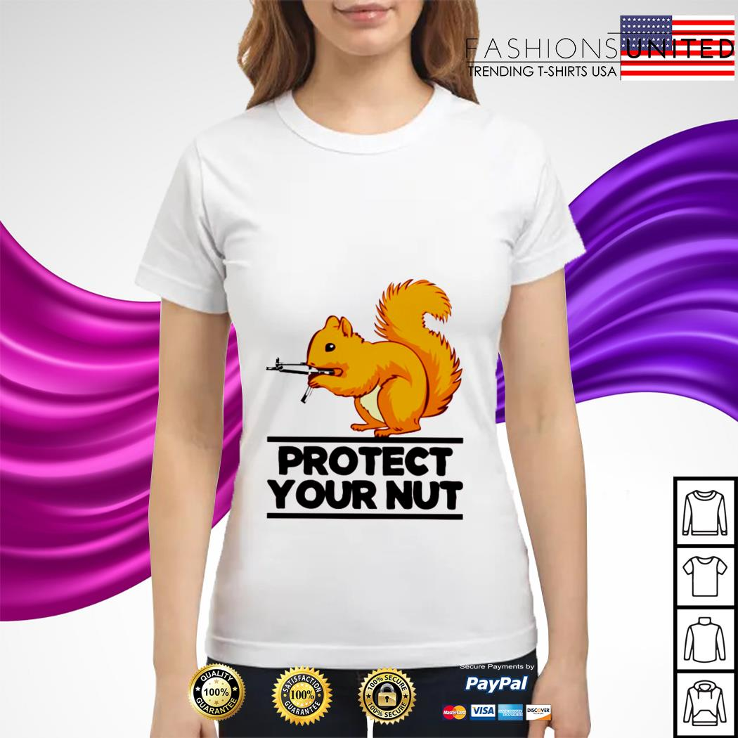 Squirrel protect your nut ladies tee