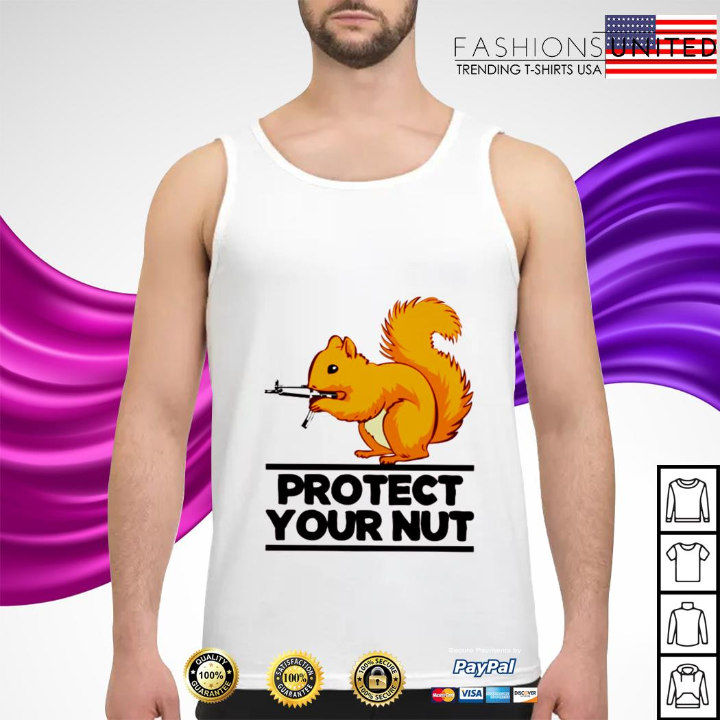 Squirrel protect your nut tank-top
