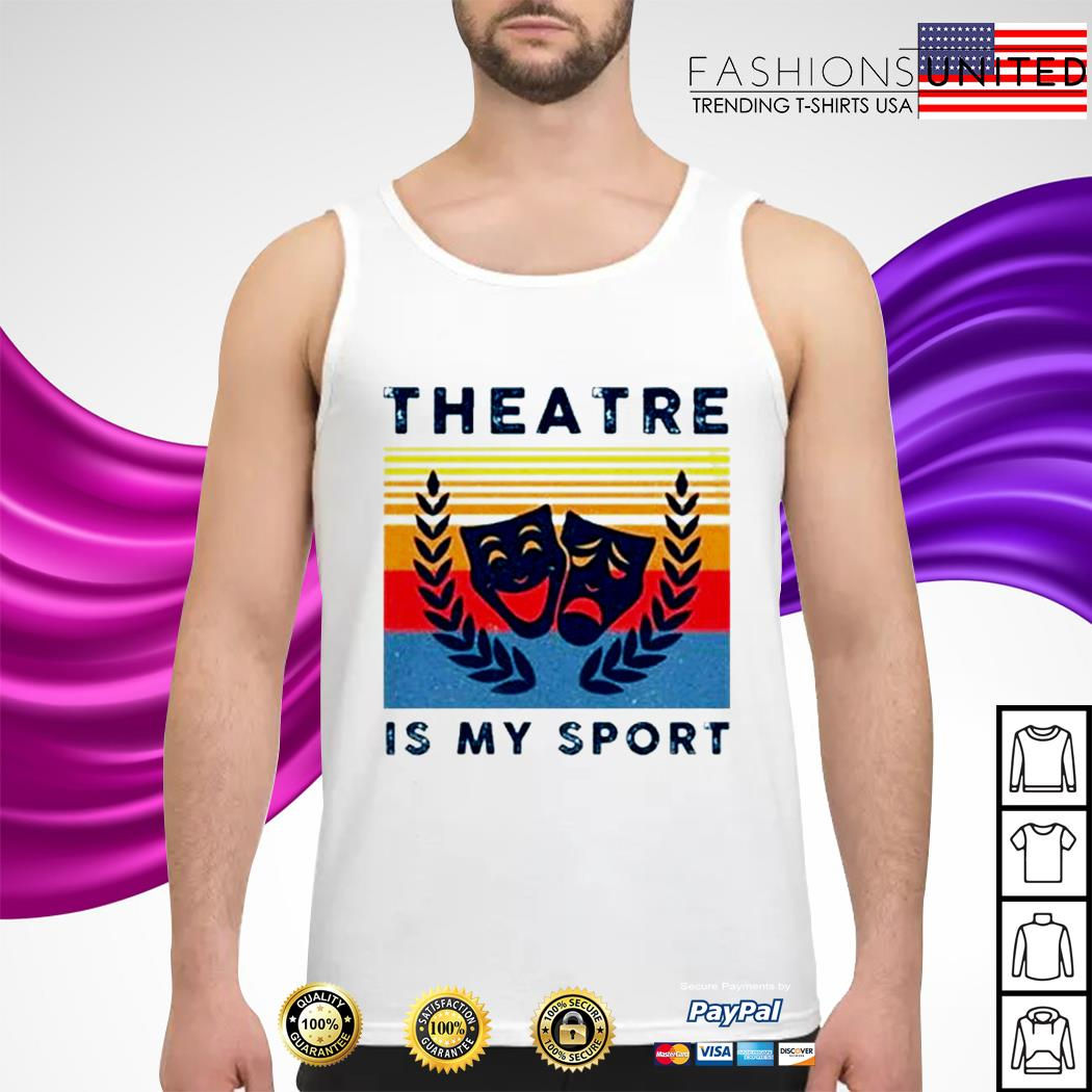 Theatre is my sport vintage tank-top