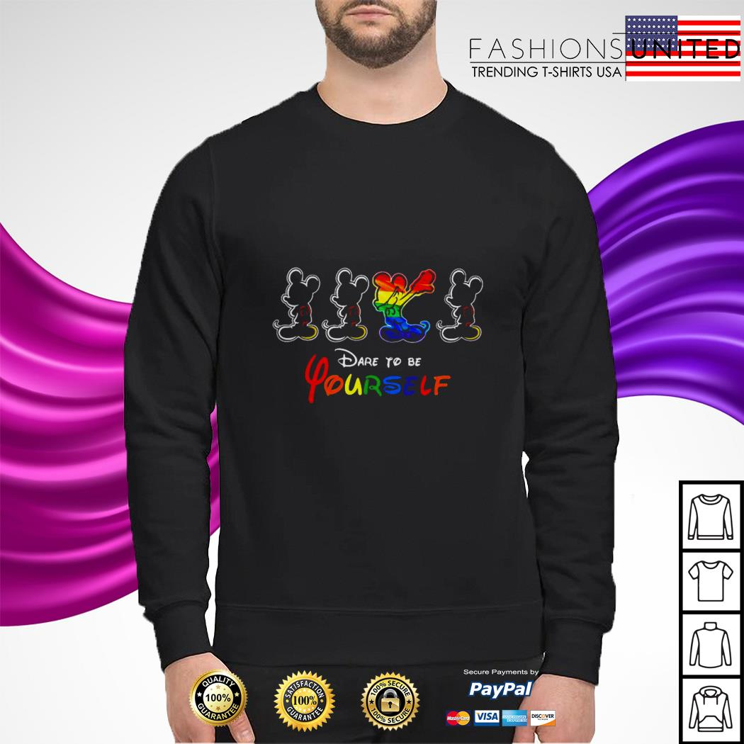 LGBT Mickey mouse dare to be yourself sweater