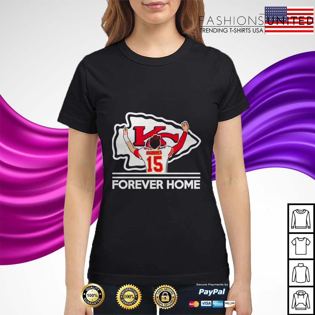 Mahomes Kansas City Chiefs Forever Home Ladies Tee