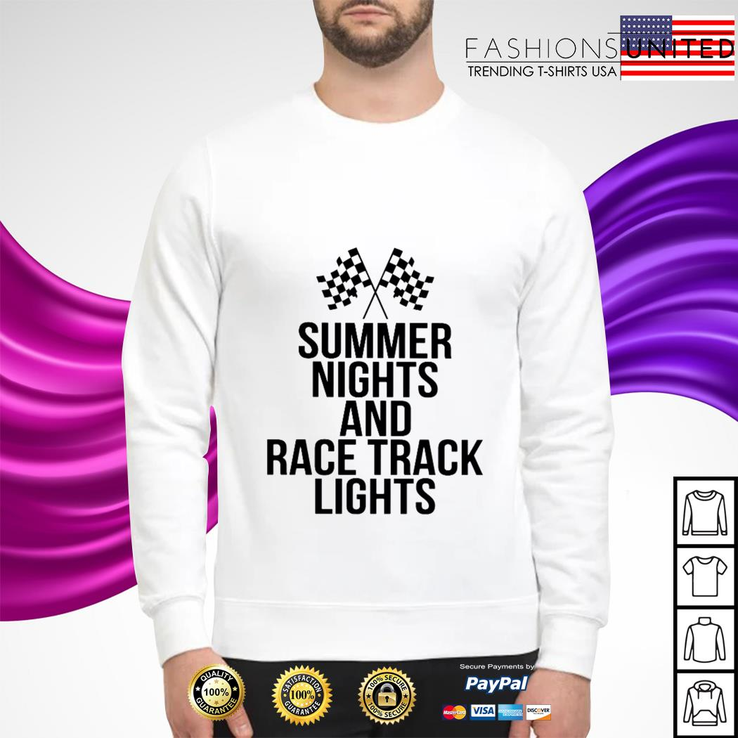 Summer nights nights and racetrack lights Sweater