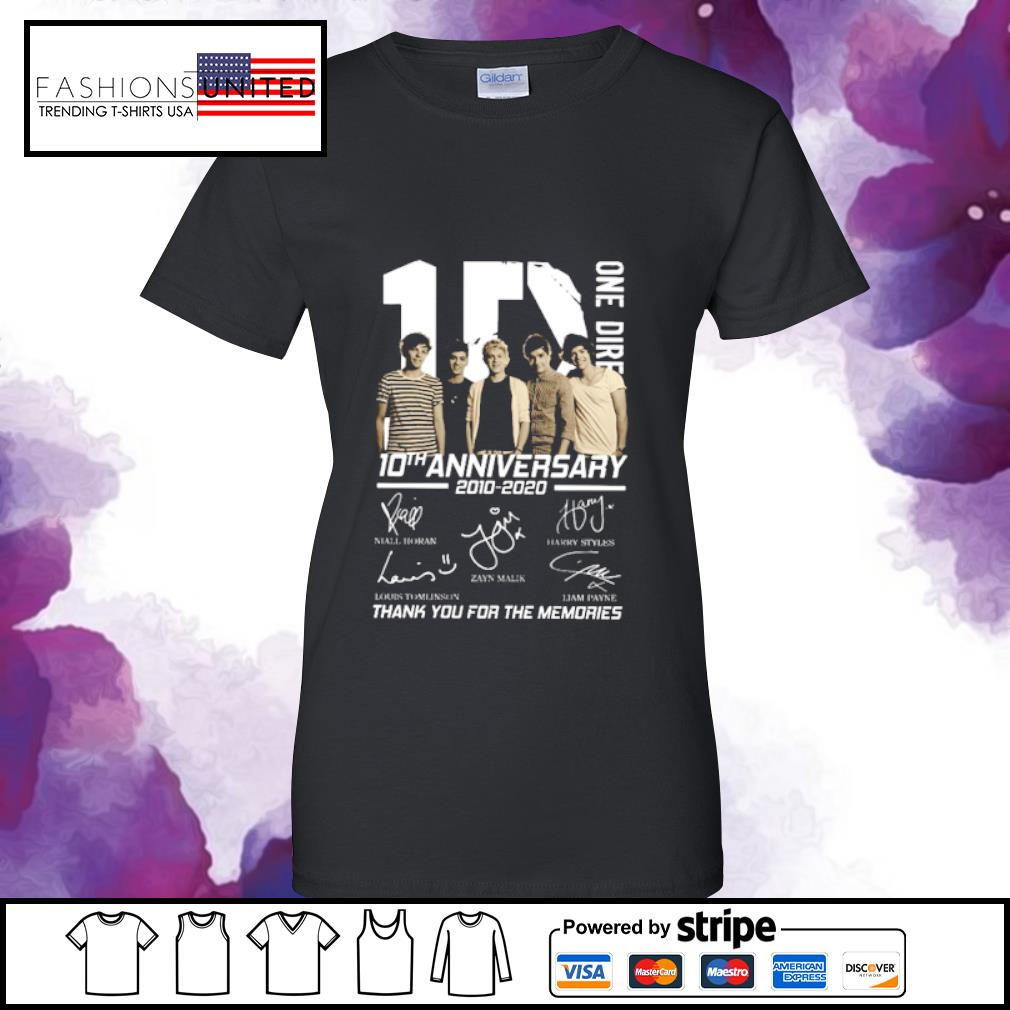 10 One Direction 10th anniversary 2010 2020 signatures s ladies-tee