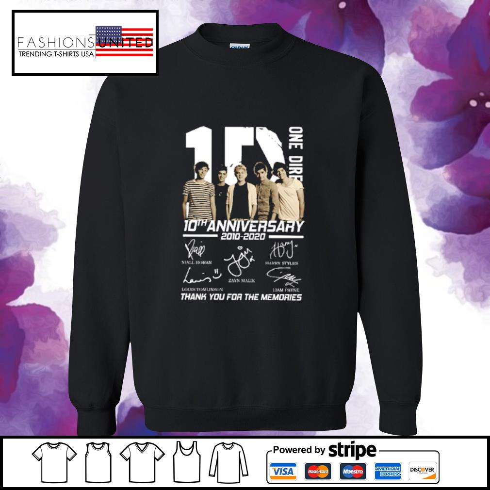 10 One Direction 10th anniversary 2010 2020 signatures s sweater