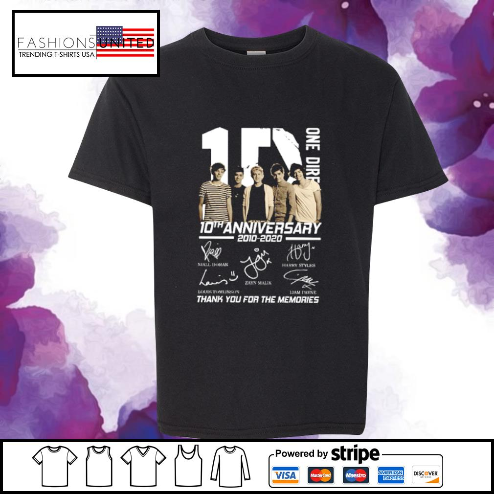 10 One Direction 10th anniversary 2010 2020 signatures s youth-tee