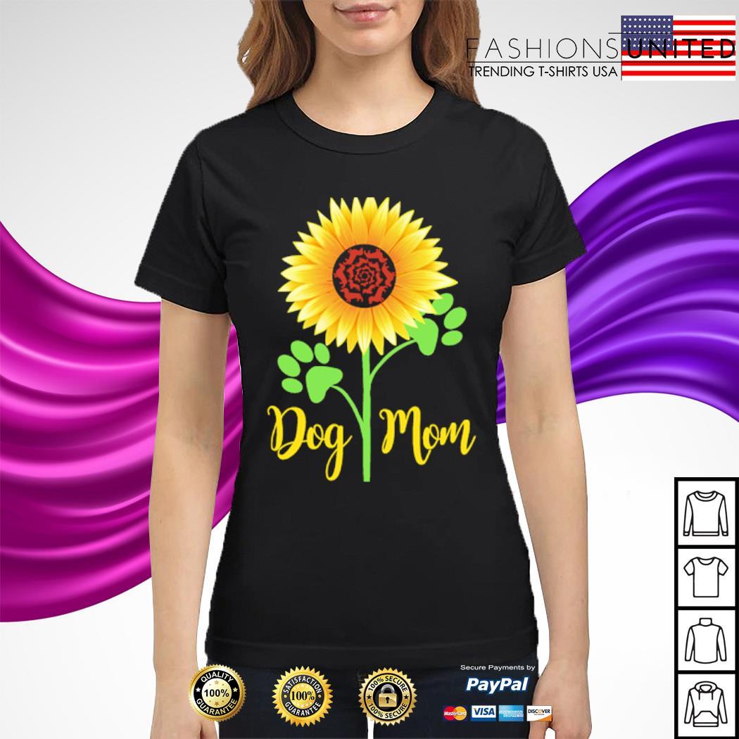 Dachshund Sunflower dog mom s ladies-tee
