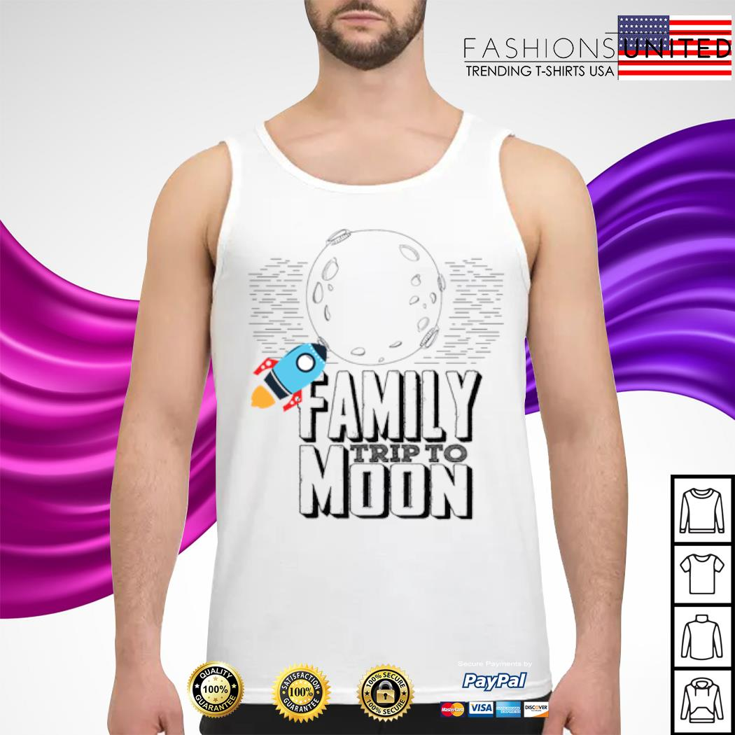 Family trip to moon s tank-top