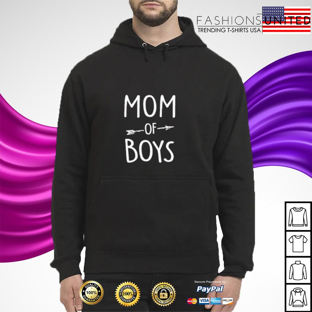 Mom of boys s hoodie