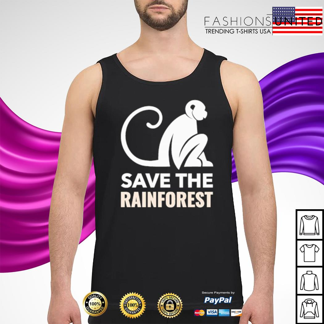 Monkey save the rainforest s tank-top