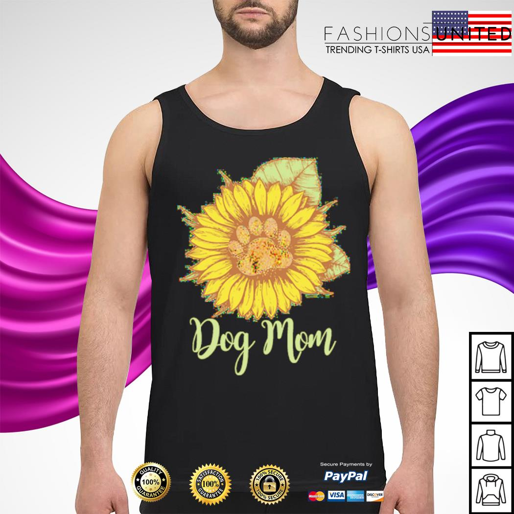 Sunflower paw dog mom s tank-top