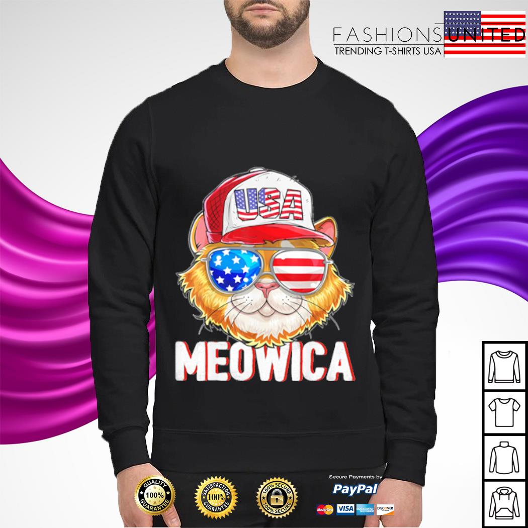 USA Cat Meowica Independence Day 4th Of July s sweater