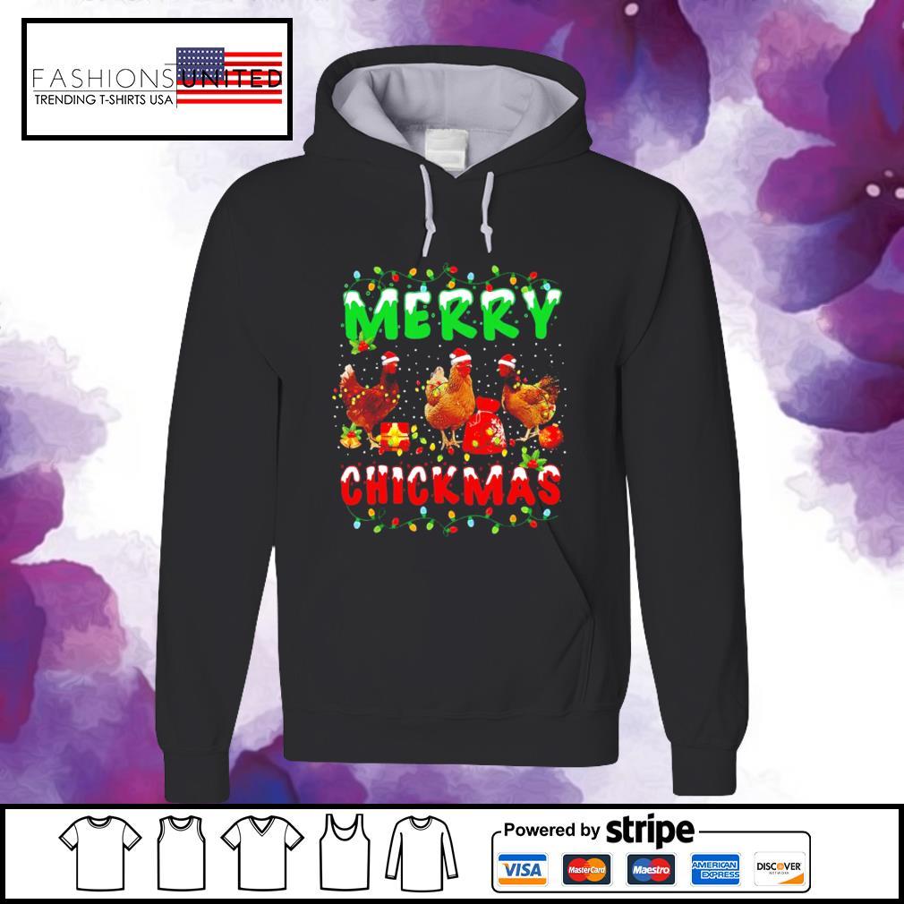 Chickens Merry Chickmas s hoodie